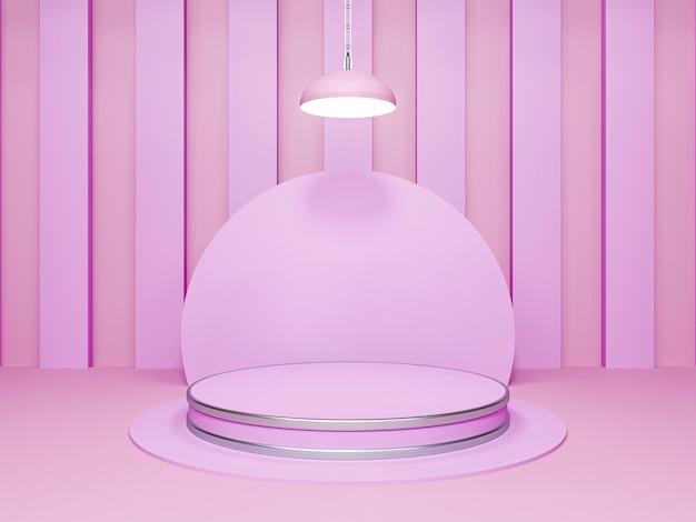 연단 디자인의 추상 3d 렌더링