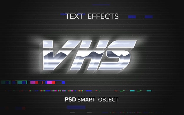Abstract arcade text effect