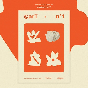 Abstract art ad template poster