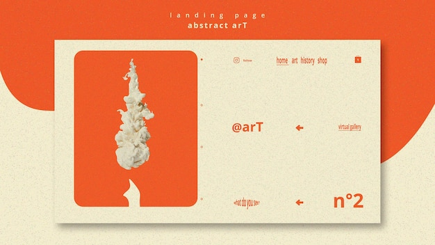 Abstract art template landing page