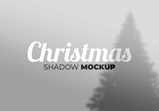 Abstract background christmas shadow mockup tree on a white wall