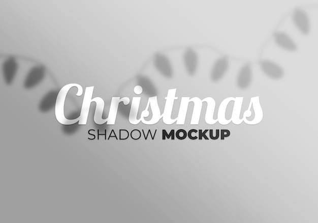 Abstract background christmas shadow mockup with light