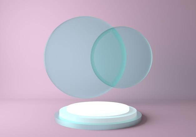 제품 표시를위한 추상적 인 배경 장면 기하학 모양 연단