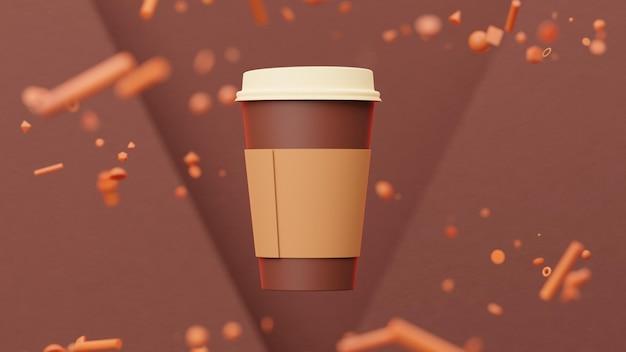 コーヒーカップと抽象的な背景