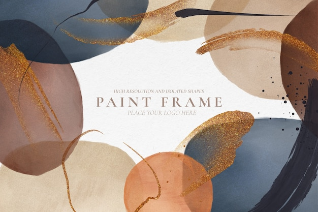 Abstract background with modern painted shapes