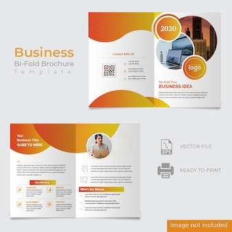 Abstract bifold corporate design