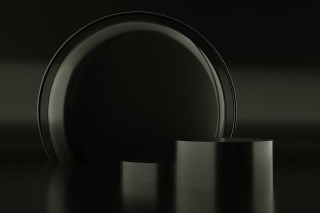 Абстрактный черный цвет геометрической формы