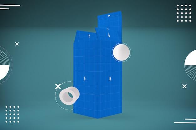 Abstract blue box mockup