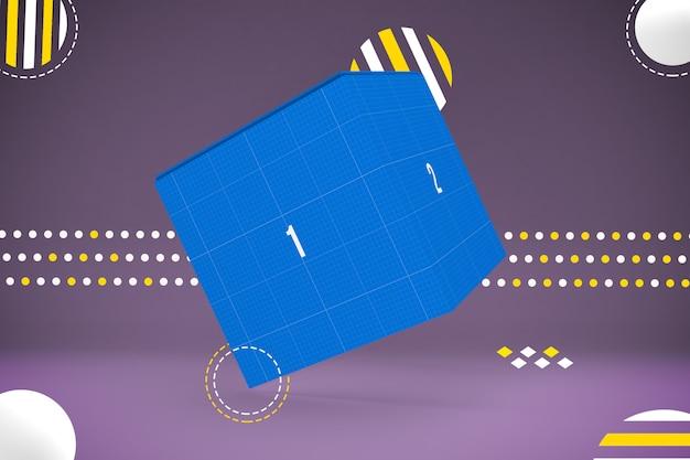 Abstract box mockup
