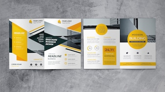 Abstract business brochure mockup