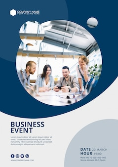 Abstract business event poster template