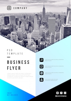 Abstract business flyer psd template