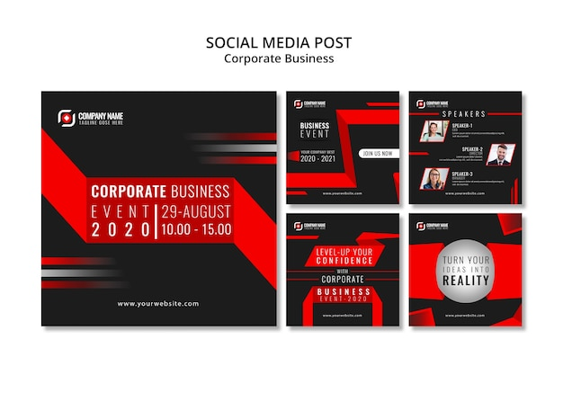 Abstract business instagram post