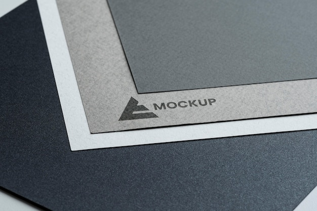 Abstract business mock-up logo