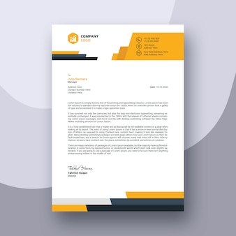 Abstract business modern letterhead template design