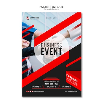 Abstract business poster template