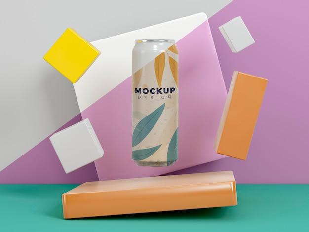 Абстрактный макет упаковки банки