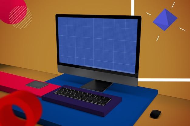 Abstract computer pro v.2 mockup