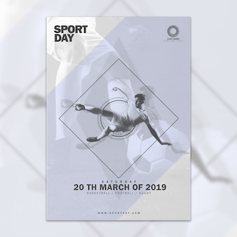 Abstract cover mockup with sports conept