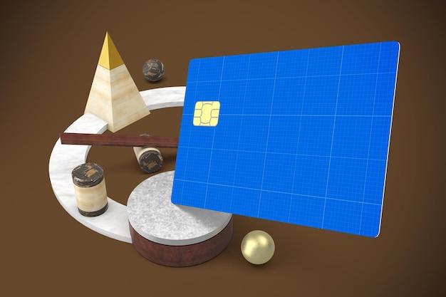 抽象クレジットカードのモックアップ