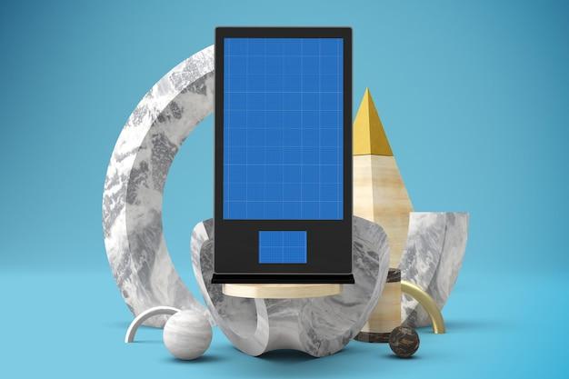 抽象的なデジタルサイネージのモックアップ