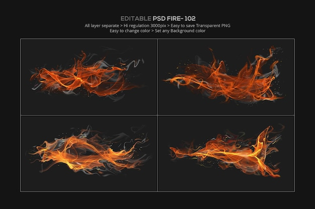 Abstract fire effect design in 3d rendering