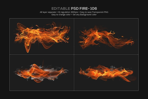 Abstract fire effect design in 3d rendering Premium Psd