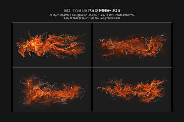 Абстрактный дизайн эффекта огня в 3d-рендеринге