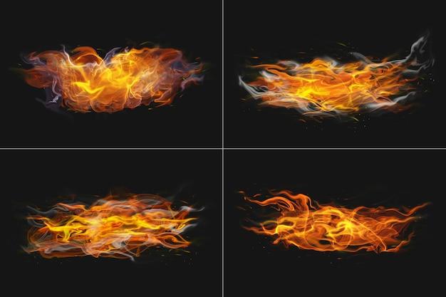 Абстрактный огонь пламя прозрачной формы