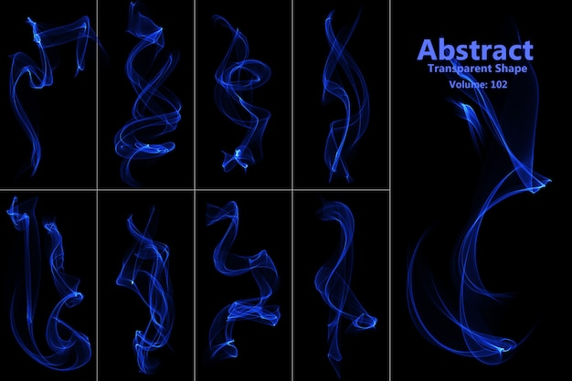Abstract flames isolated shape