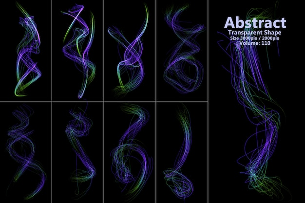 Abstract flames isolated shape Premium Psd