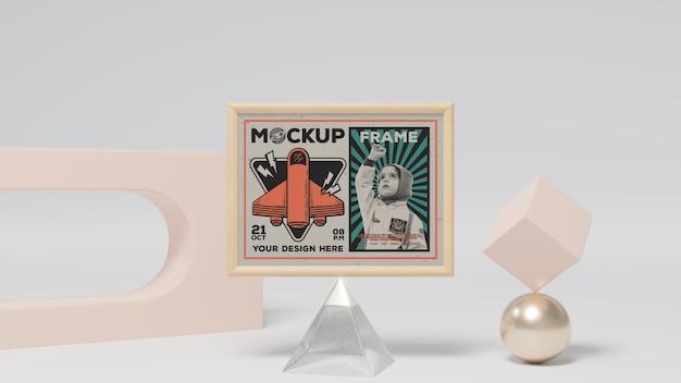 Абстрактная рамка и макет декоративных элементов