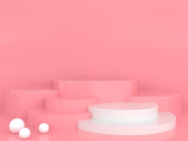 추상적 인 기하학적 모양 파스텔 색상 최소한의 현대적인 스타일 개념