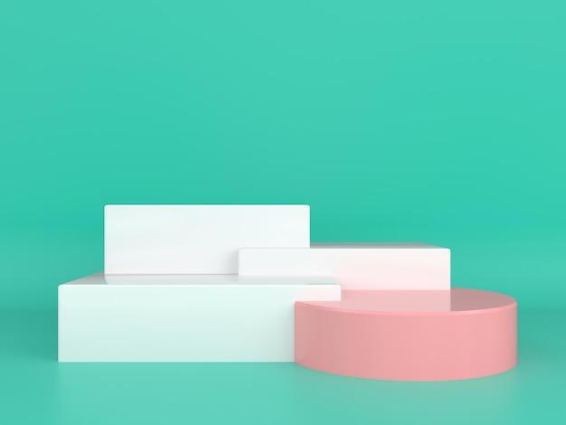 추상적 인 기하학적 모양 파스텔 색상 템플릿 최소한의 현대적인 스타일 개념