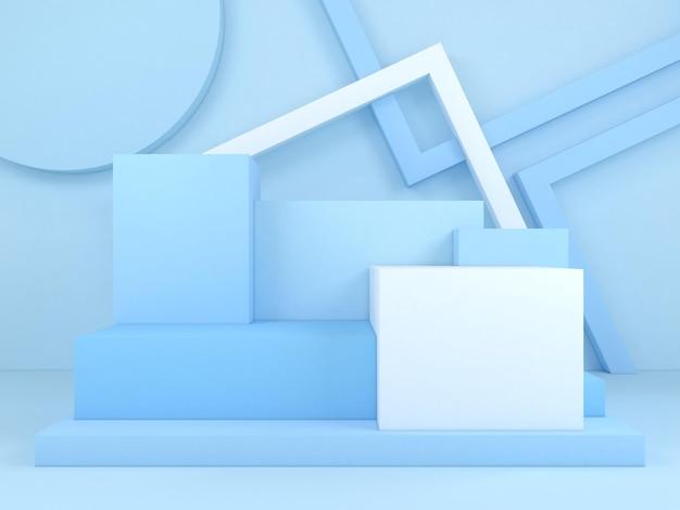 抽象的な幾何学的形状パステルカラーテンプレート最小限のモダンなスタイルのコンセプト