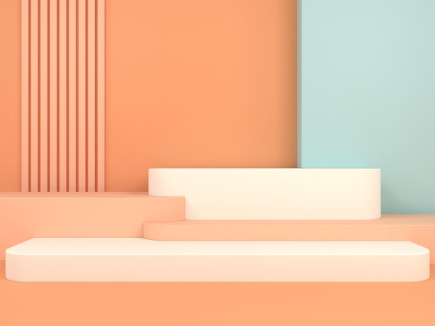 Abstract geometric shape pastel color template minimal modern style wall display booth podium stage