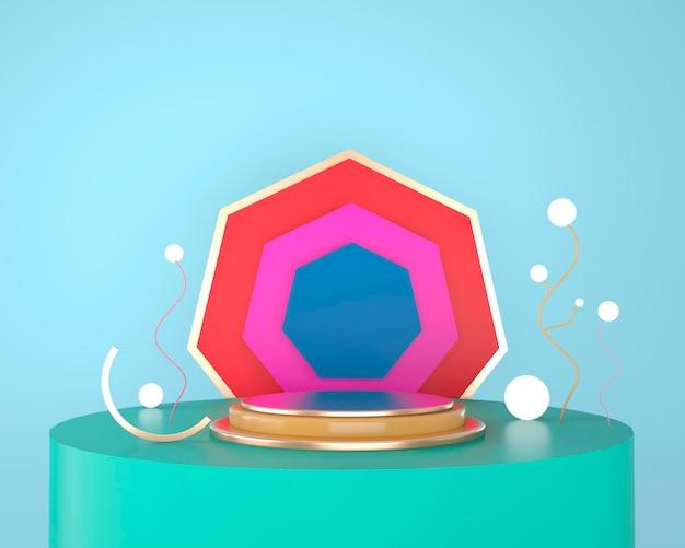 Абстрактные геометрические формы дисплея продукта с минимальными и современными концепциями