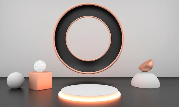 제품 디스플레이의 추상적 인 기하학적 모양