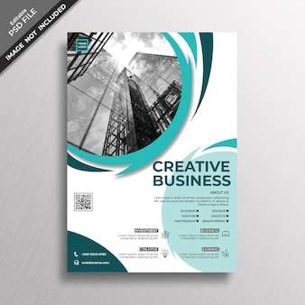Abstract geometry style flyer design template