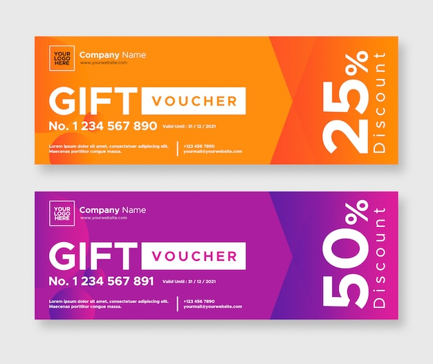 Abstract gift voucher design