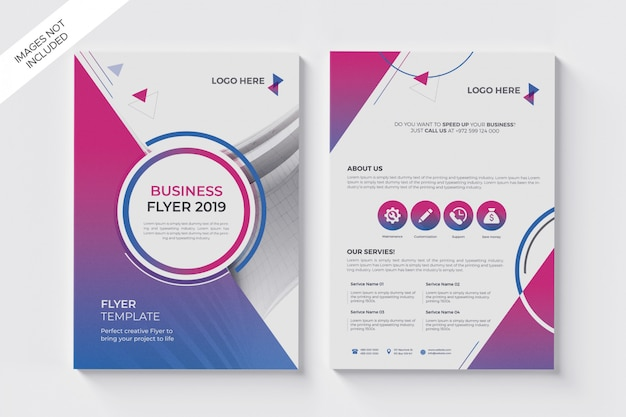 Abstract gradient a4 business flyer poster, brochure