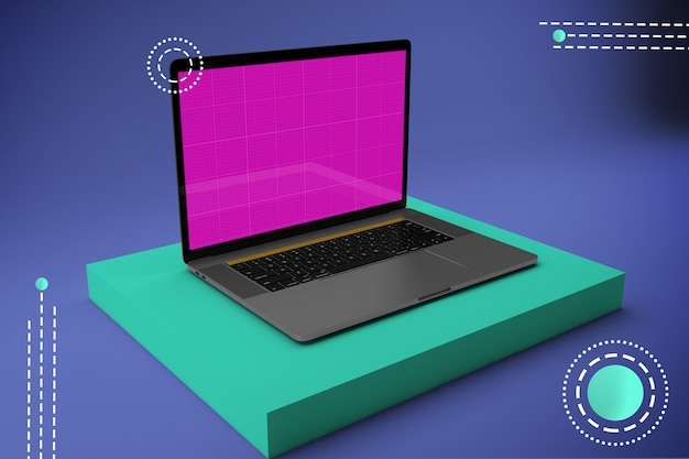 Abstract laptop mockup