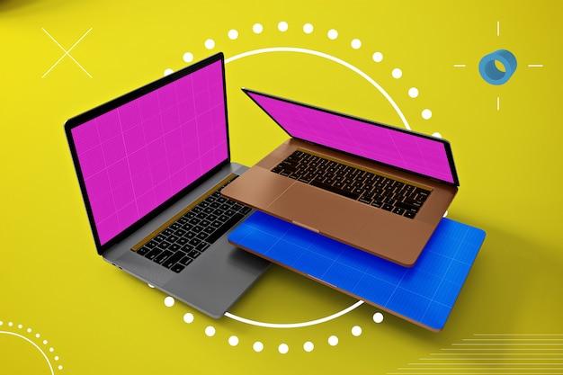 Абстрактный ноутбук макет