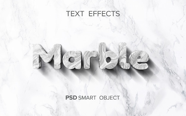 Effetto di testo in marmo astratto