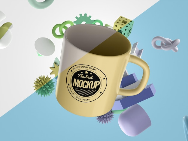 Abstract mock-up merchandise with mug