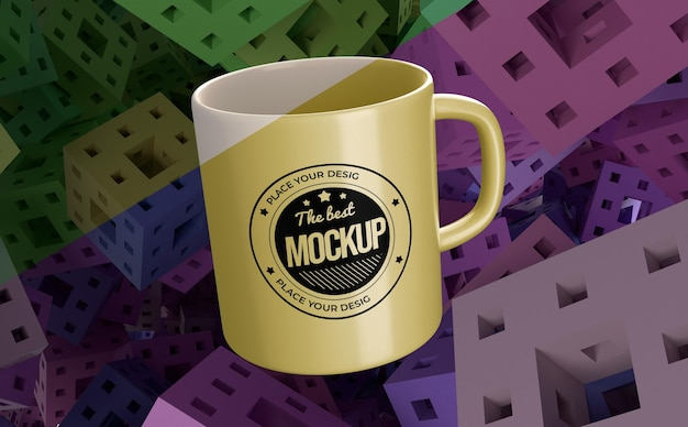 Abstract mock-up mug merchandise