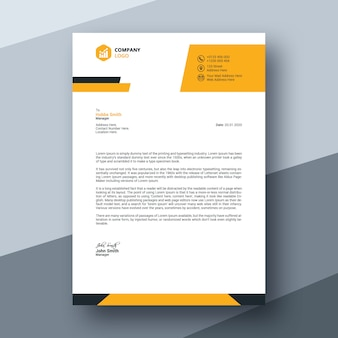 Abstract modern business letterhead template