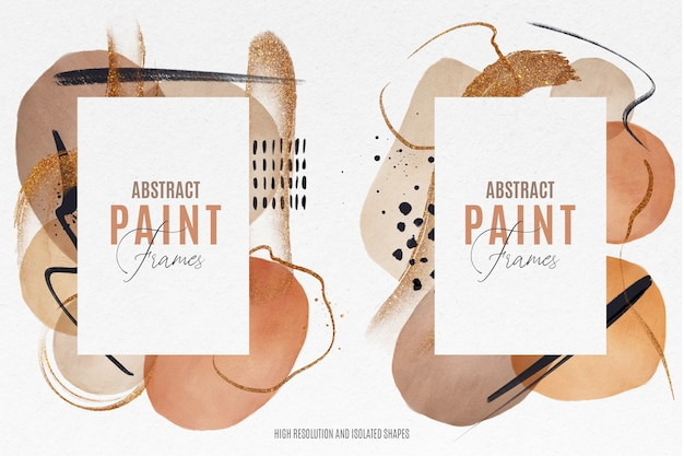 Abstract paint frames
