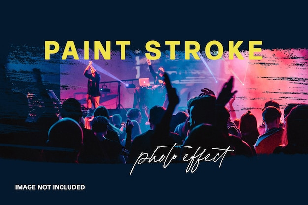 Abstract paint stroke photo effect template
