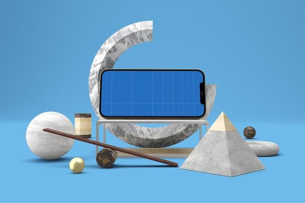 抽象的な電話のモックアップ